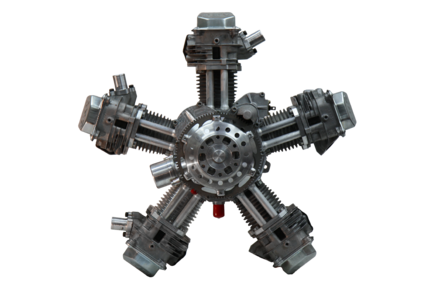 Aircraft radial engine clip clipart clipart transparent Radial engine - Wikiwand clipart transparent