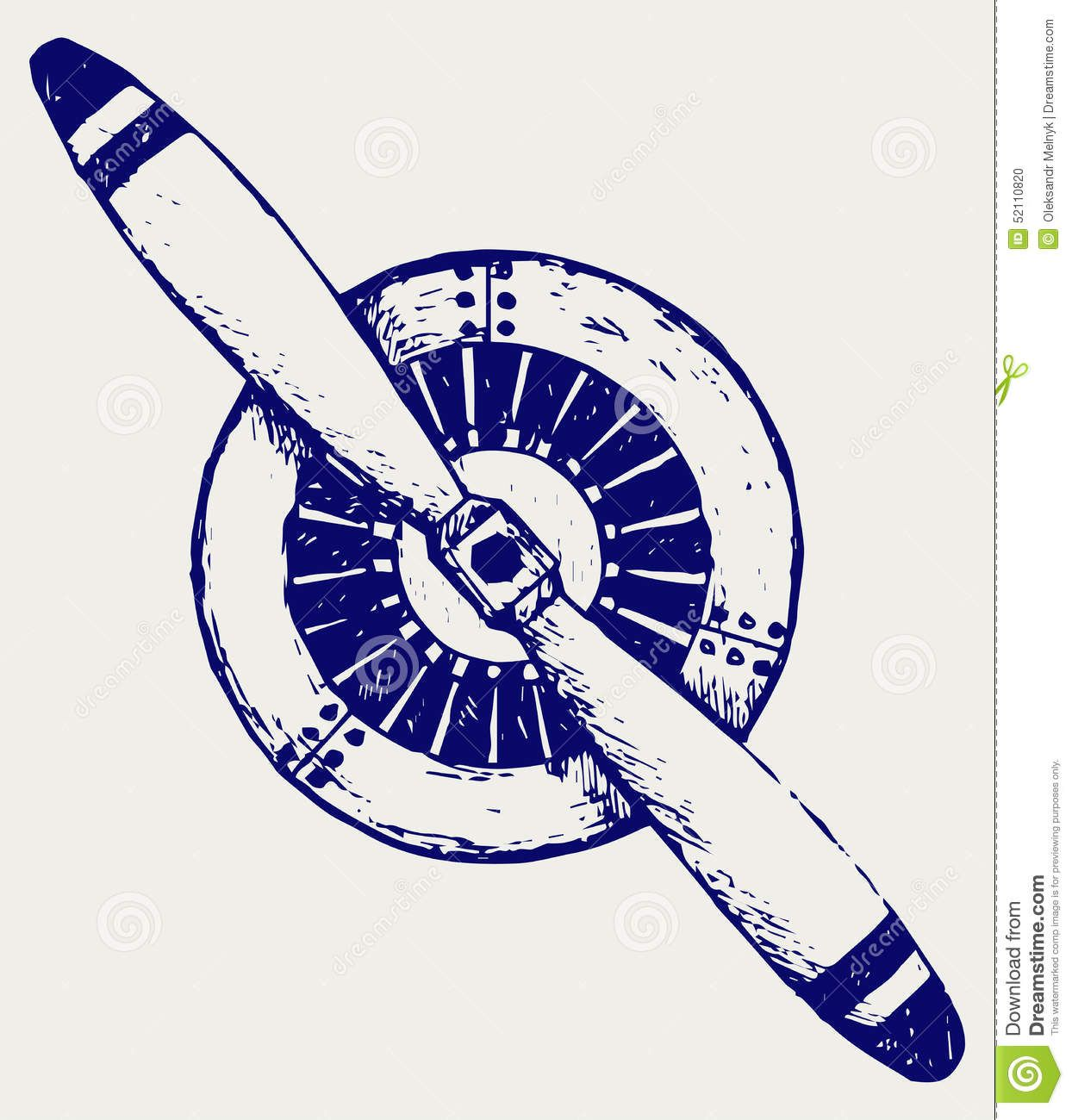 Aircraft radial engine clip clipart