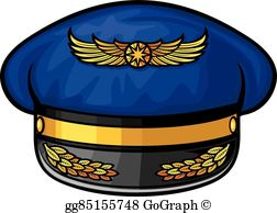 Airforce hat clipart image library Airline Pilots Hat Clip Art - Royalty Free - GoGraph image library