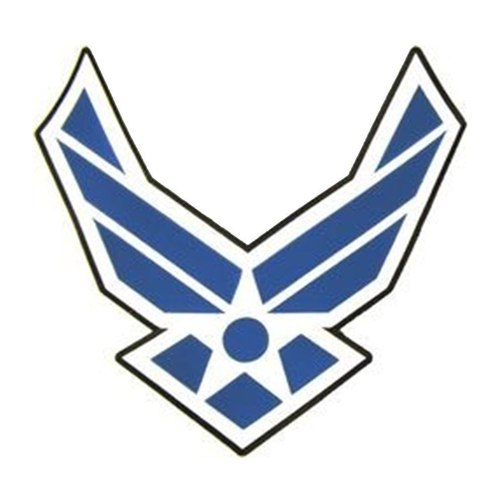 Airforce wings clipart image free download U.S. Air Force Wings Emblem Stitch on Back Patch (11.5\