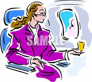 Airline passengers clipart