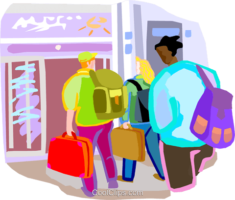 Airline passengers clipart