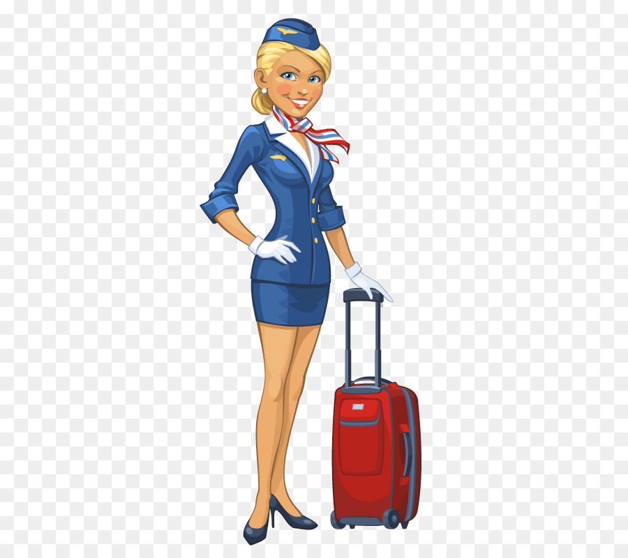 Airline stewardess clipart clipart free Travel Blue Background clipart - Airplane, Clothing, Cartoon ... clipart free