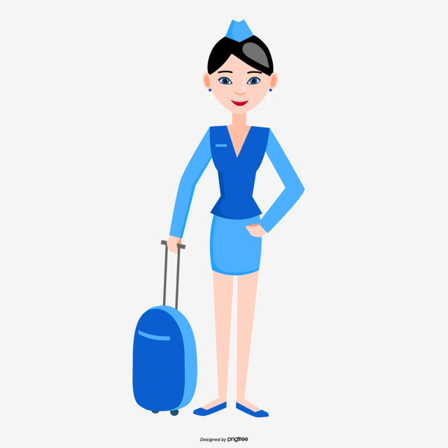 Airline stewardess clipart jpg black and white library Flight Attendant Drawing at PaintingValley.com | Explore collection ... jpg black and white library