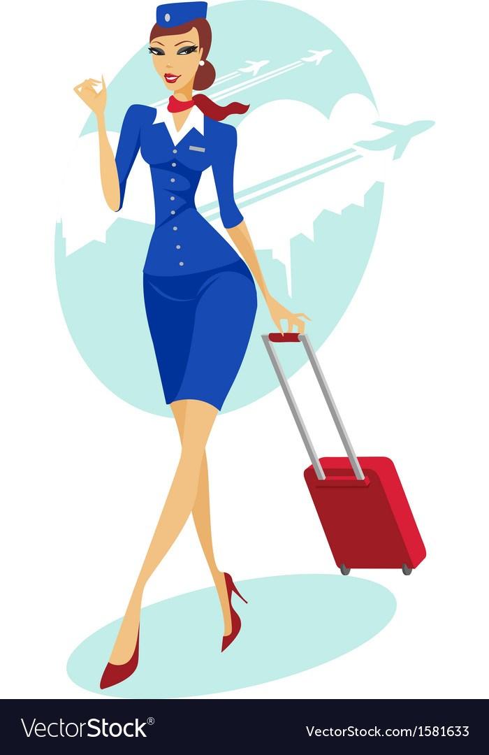 Airline stewardess clipart svg freeuse Flight stewardess clipart 8 » Clipart Portal svg freeuse