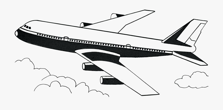 Airlines clipart cheap flights jpg black and white library Free Clipart Of A Plane - Airplane Clip Art Black And White #11613 ... jpg black and white library