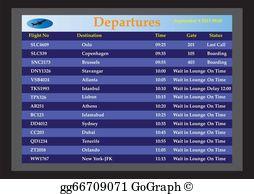 Airlines clipart flight schedule transparent Flight Status Clip Art - Royalty Free - GoGraph transparent