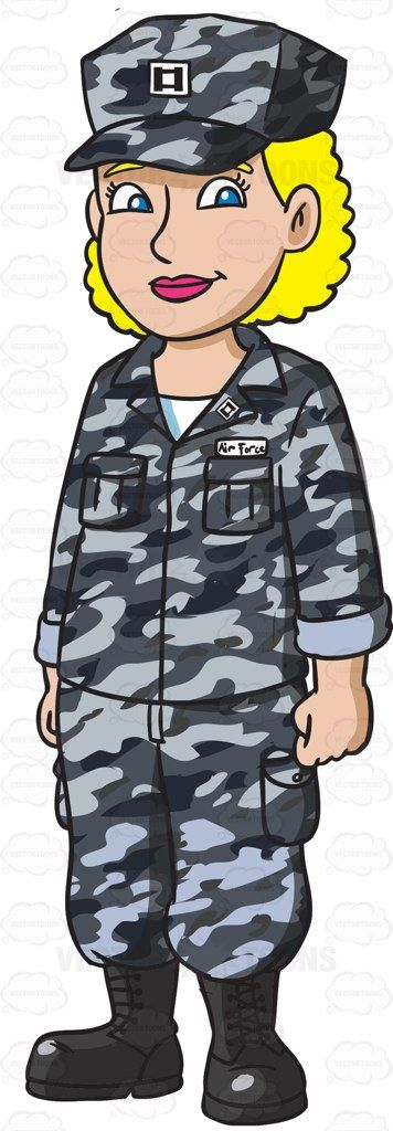 Airman clipart png black and white download A Blonde Woman Dressed In A Us Air Force Airman Battle Uniform ... png black and white download
