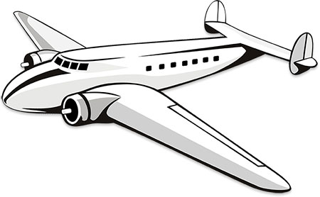 Airplane with tail wheel clipart black and white picture free stock Black And White Airplane Pictures | Free download best Black And ... picture free stock