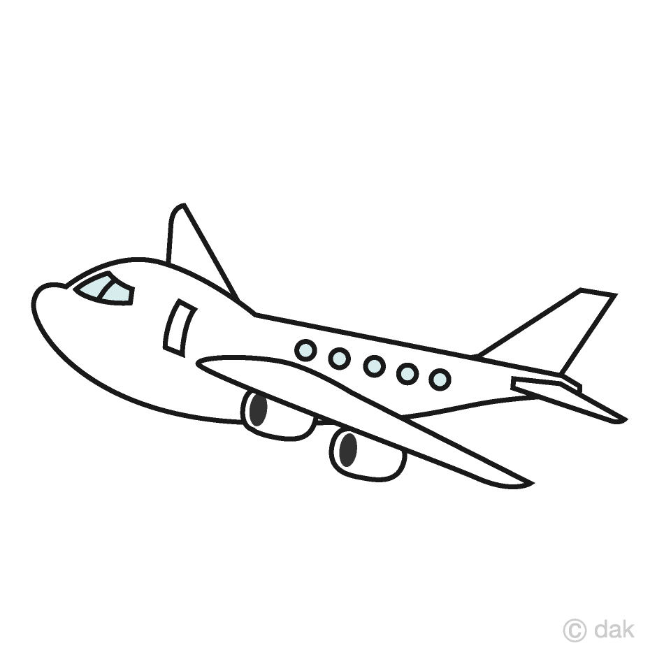 White airplane clipart image Cute Airplane Clipart Free Picture|Illustoon image