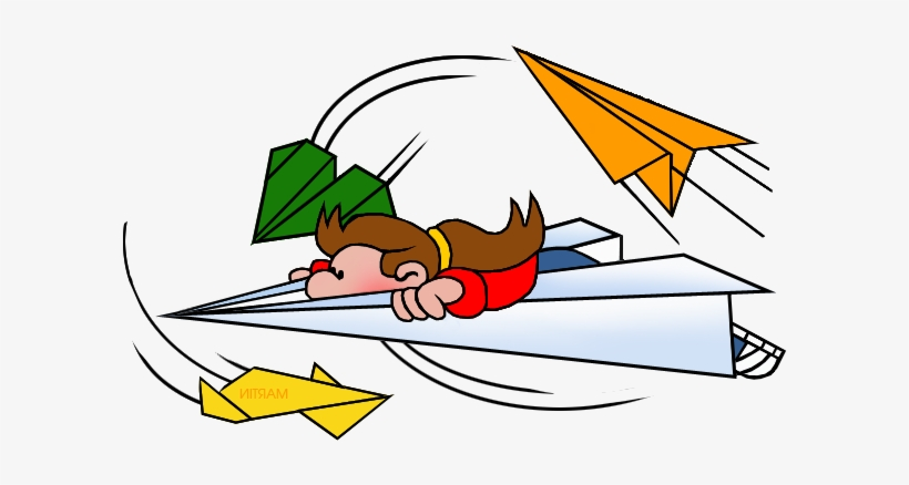 Airplane adventure clipart free Flying Paper Airplane Clipart - Paper Airplane - Free Transparent ... free