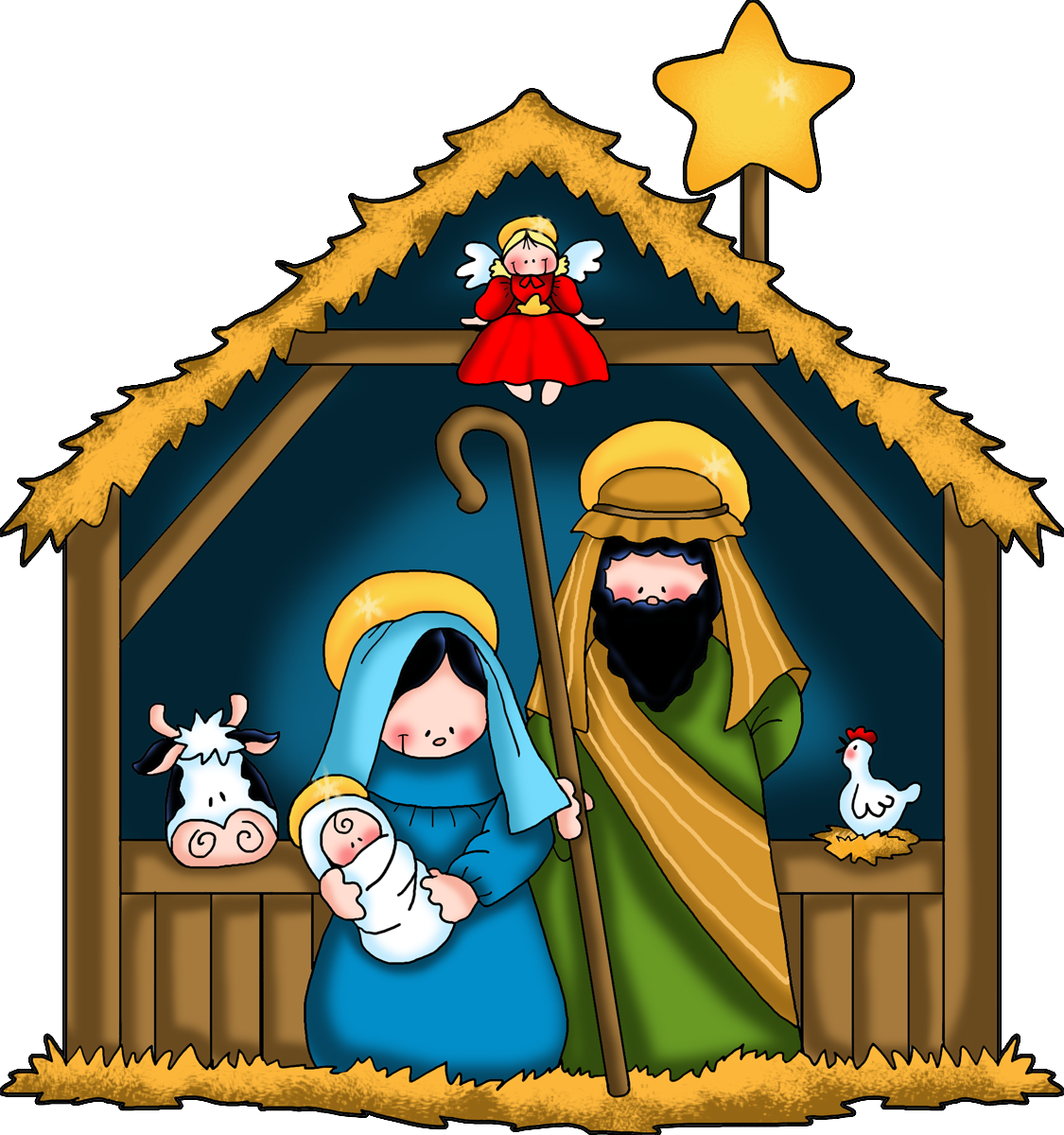 Airplane christmas jesus clipart clip art black and white Free Christmas Nativity Clipart, Download Free Clip Art, Free Clip ... clip art black and white