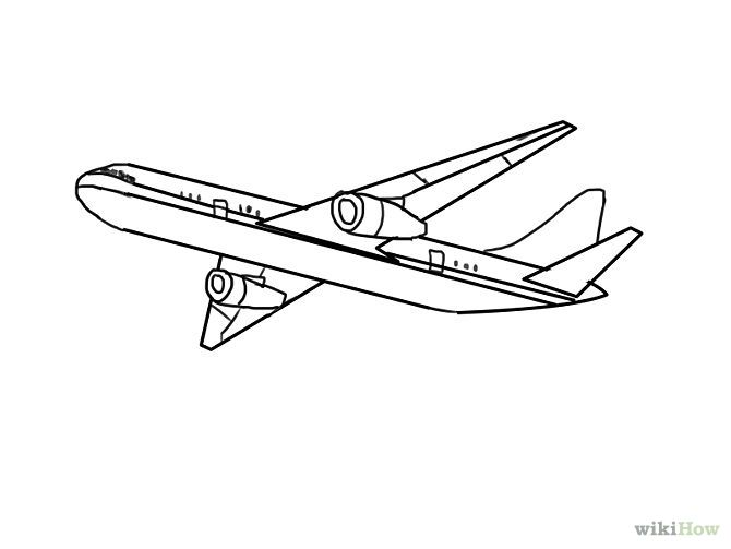 Airplane clipart across usa png freeuse stock outline drawings airplanes - Google Search | airplanes and ... png freeuse stock
