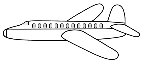 Airplane clipart black white banner library stock Airplane clipart black and white - ClipartBarn banner library stock