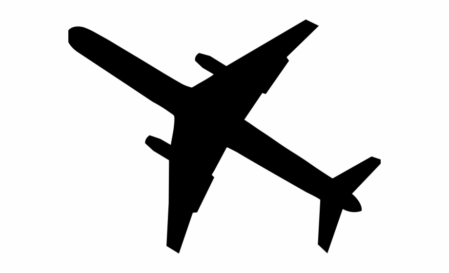 Airplane clipart blavk transparent image free Transparent Airplane Clipart Black And White, Transparent Png ... image free