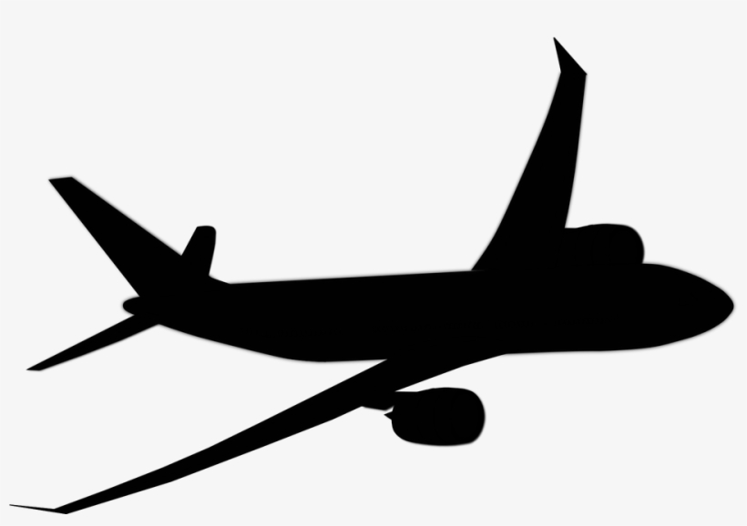 Airplane clipart blavk transparent jpg library stock Airplane Vector Png - Aeroplane Clipart Black And White PNG Image ... jpg library stock
