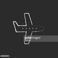 Airplane clipart chalk clip art freeuse Flying Airplane Icon Drawn IN Chalk stock vectors - Clipart.me clip art freeuse