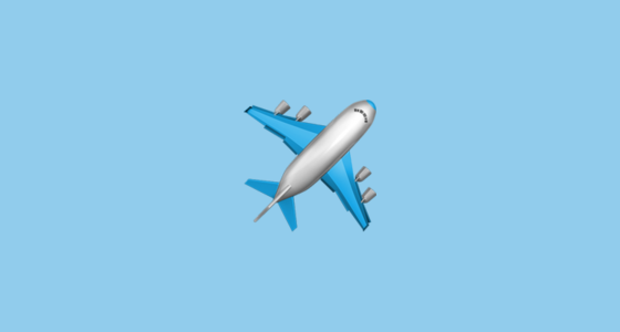 Airplane clipart facing left banner freeuse stock ✈️ Airplane Emoji banner freeuse stock