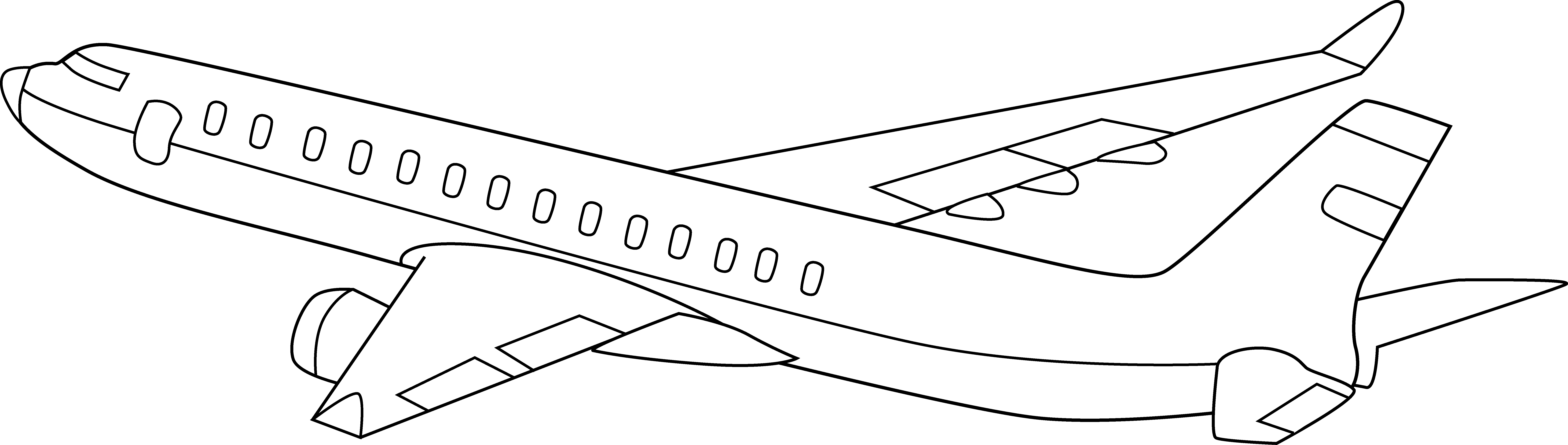 Airplane clipart facing left image download Free Airplane Outline, Download Free Clip Art, Free Clip Art on ... image download