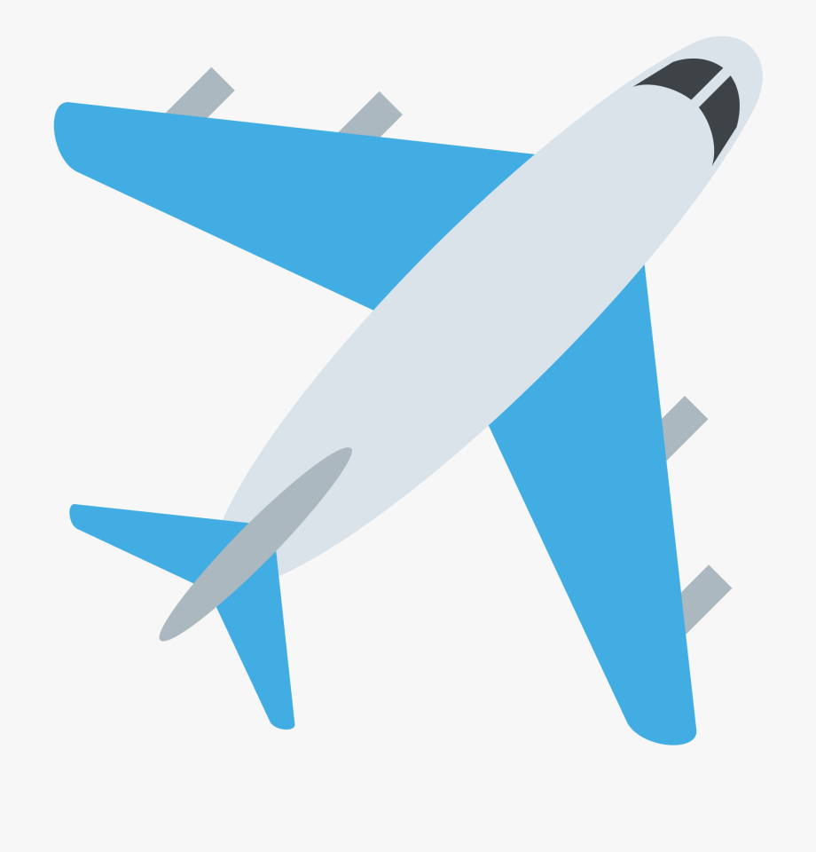 Airplane clipart girly clip transparent library Emoji Airplane Vinyl Sticker - Facebook Plane React #866076 - Free ... clip transparent library