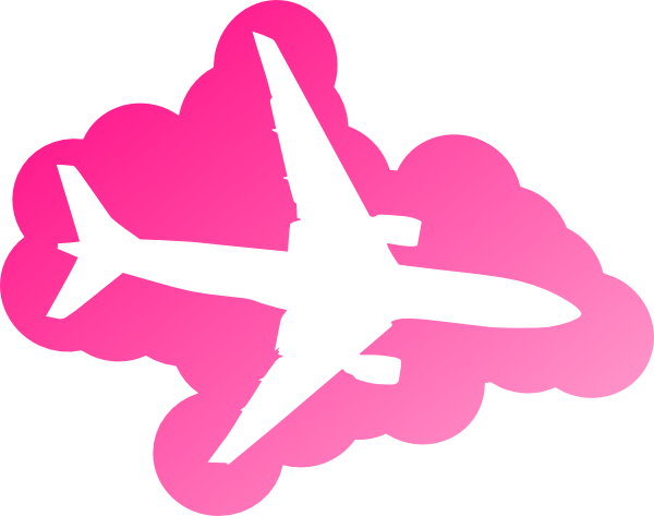Airplane clipart girly svg black and white download Pink Airplane Clip Art at Clker.com - vector clip art online ... svg black and white download