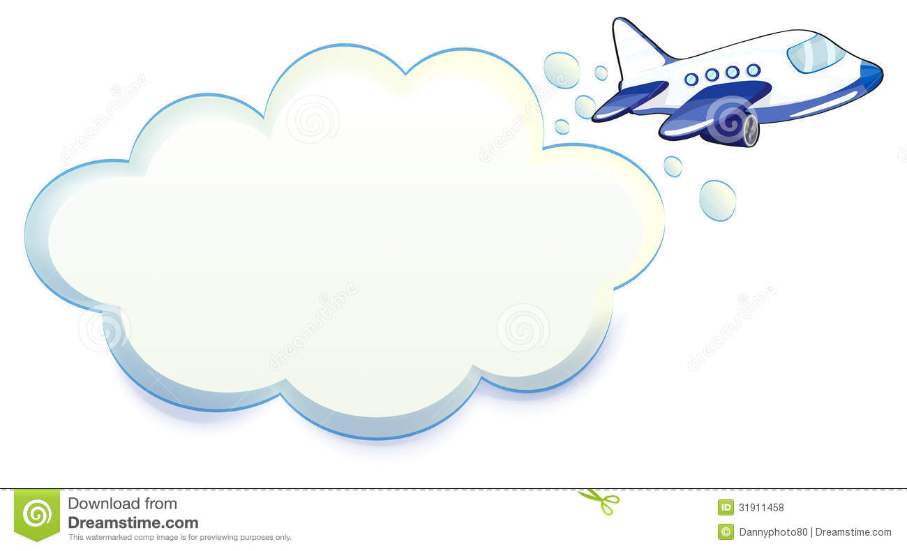 Airplane clouds clipart picture library download Airplane Clouds Clipart picture library download