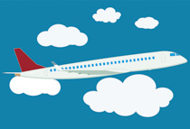 Airplane clouds clipart picture freeuse Free Aircraft Clipart - Clip Art Pictures - Graphics - Illustrations picture freeuse