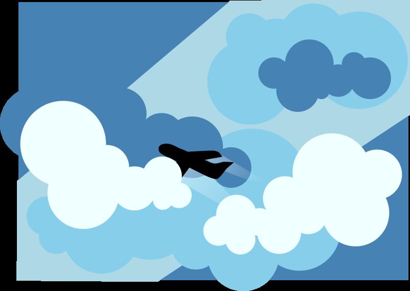 Airplane clouds clipart clipart freeuse Airplane Cartoon clipart - Airplane, Cloud, Blue, transparent clip art clipart freeuse