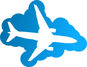 Airplane clouds clipart black and white Plane In The Sky Clip Art at Clker.com - vector clip art online ... black and white