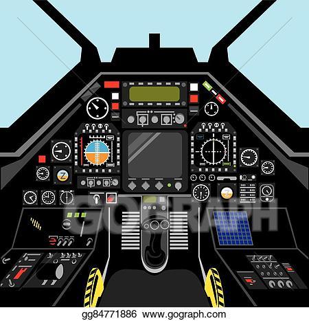 Airplane cockpit clipart vector transparent stock Vector Stock - Fighter jet cockpit. Stock Clip Art gg84771886 - GoGraph vector transparent stock