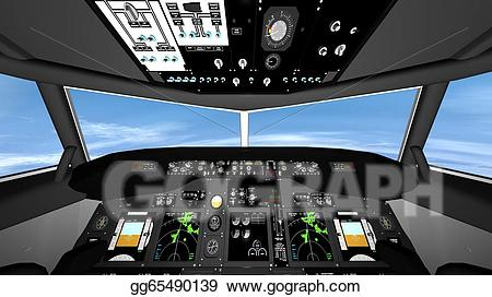 Airplane cockpit clipart svg royalty free stock Clipart - Cockpit. Stock Illustration gg65490139 - GoGraph svg royalty free stock