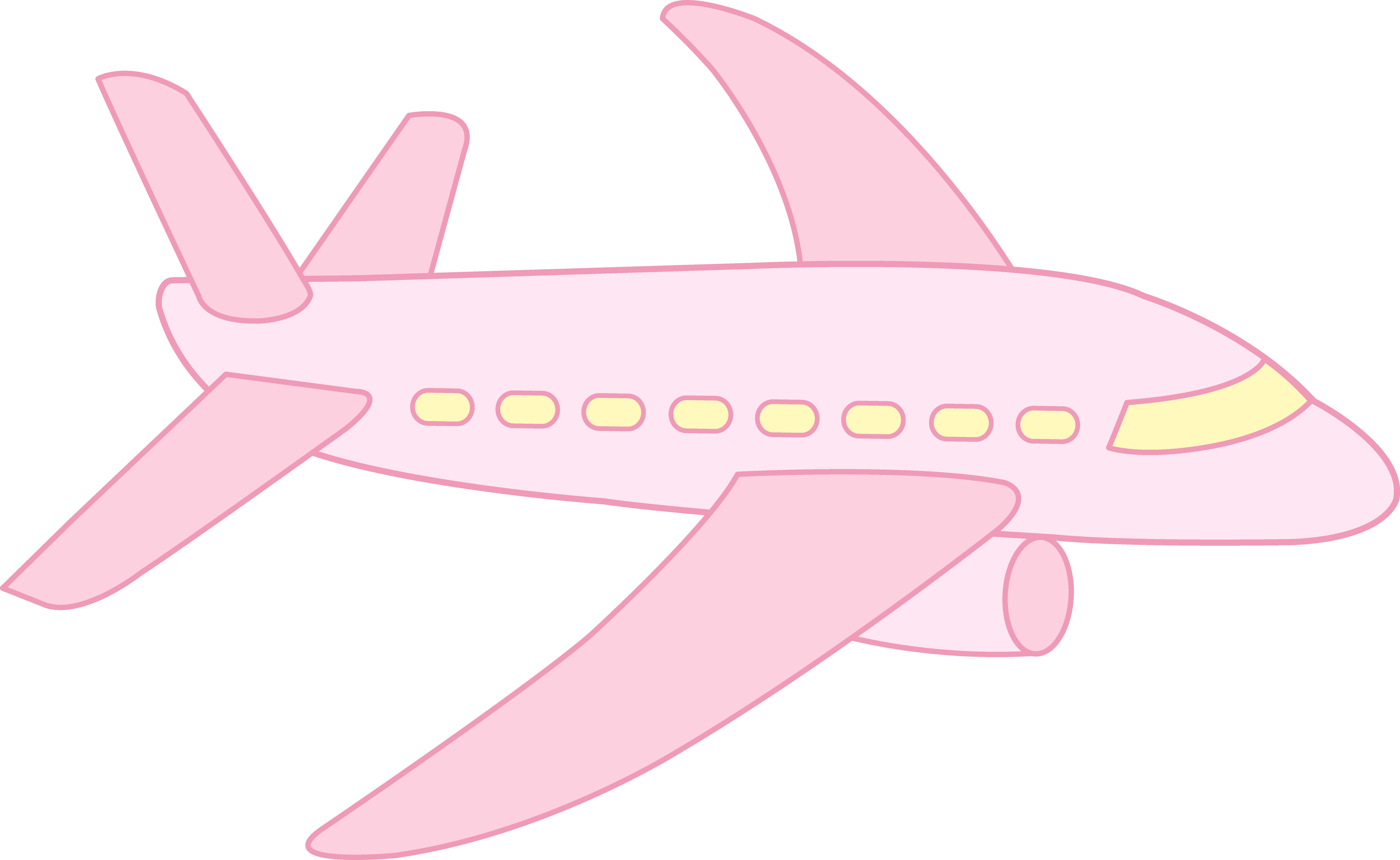 Airplane cute clipart clip transparent stock Cute Airplane | Cute Pink Airplane - Free Clip Art | Cartoon ... clip transparent stock