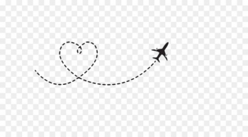 Airplane path clipart jpg black and white library Airplane Flight Aircraft Clip art - Heart-shaped airplane route - Nohat jpg black and white library