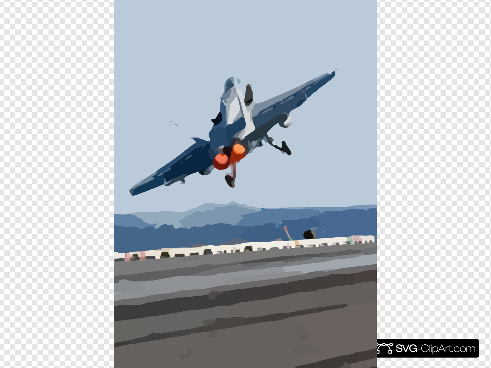 Airplane flight deck clipart vector transparent Hornet Launches From One Of Four Steam Powered Catapults On The Ship ... vector transparent