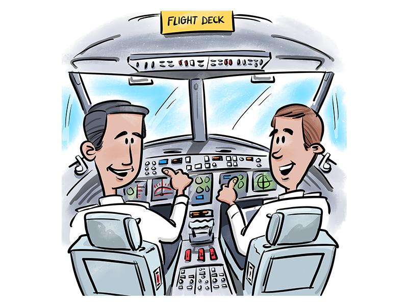 Airplane flight deck clipart clip art royalty free stock Flight Deck - Illustration by Daniel Myer ◉ on Dribbble clip art royalty free stock