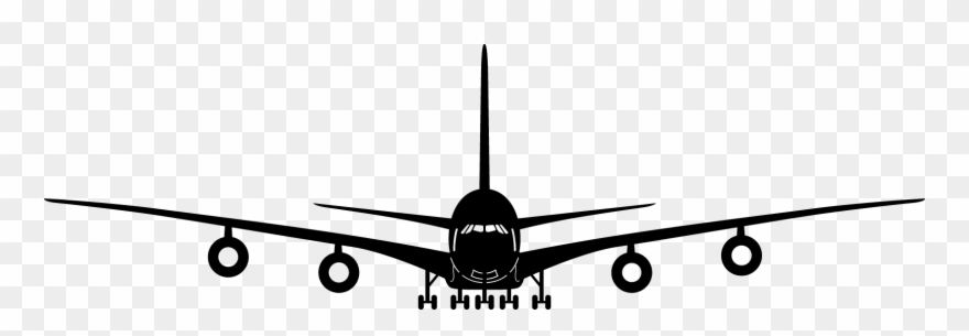 Airplane front clipart image Clipart Plane Front - Aeroplane Front View Vector - Png Download ... image