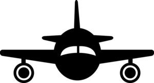 Airplane front clipart clip library library Plane Silhouette Clipart Image - Clip Art Silhouette Of A Jet ... clip library library