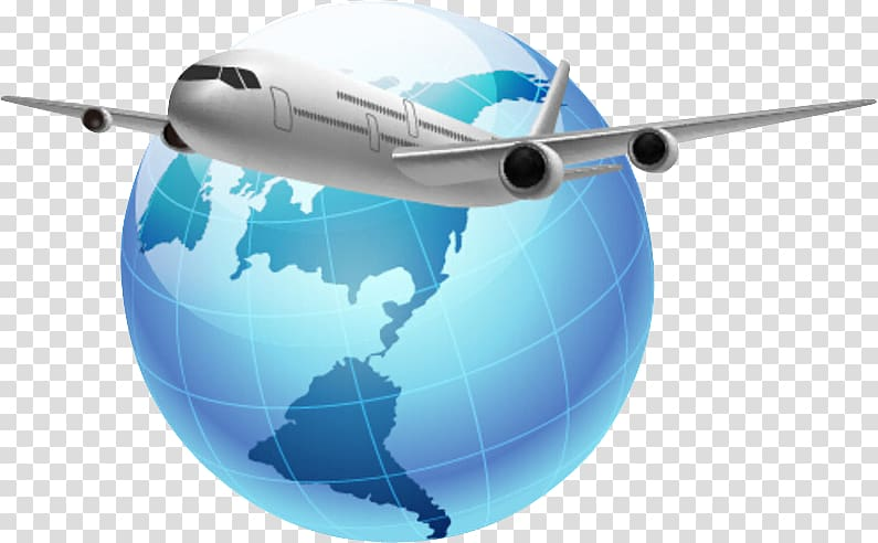 Airplane globle clipart clipart royalty free stock White airlines and blue globe illustration, Globe Airplane World ... clipart royalty free stock