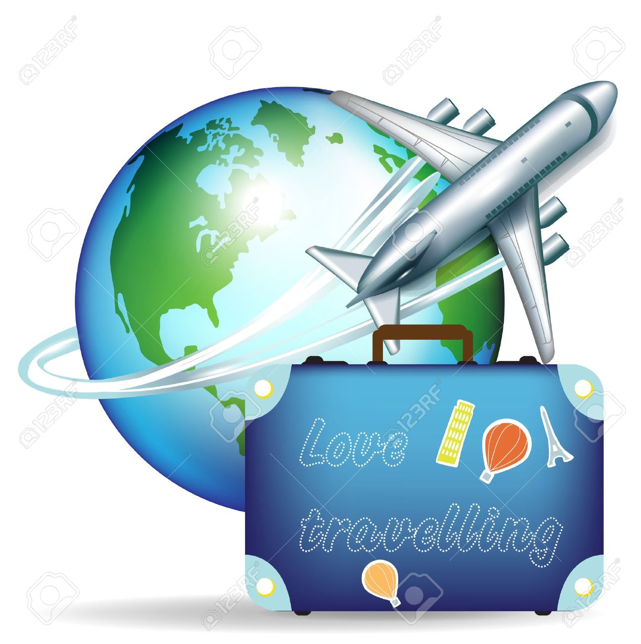 Airplane globle clipart image freeuse Airplane Travel Clipart | Free download best Airplane Travel Clipart ... image freeuse