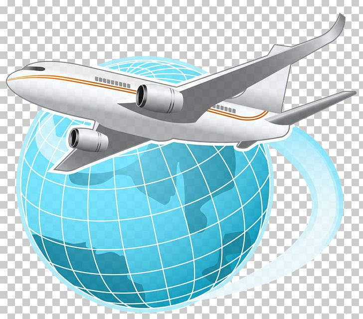 Airplane globle clipart black and white download Airplane Flight Globe World PNG, Clipart, Aerospace Engineering ... black and white download