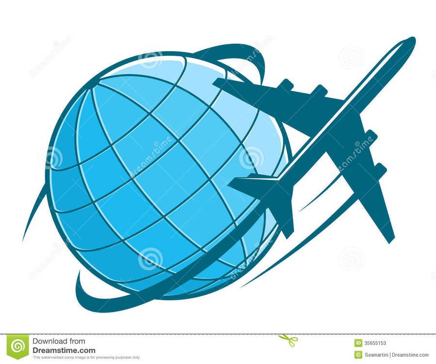 Airplane globle clipart jpg library stock Download airplane with earth clipart Airplane Earth Air ... jpg library stock