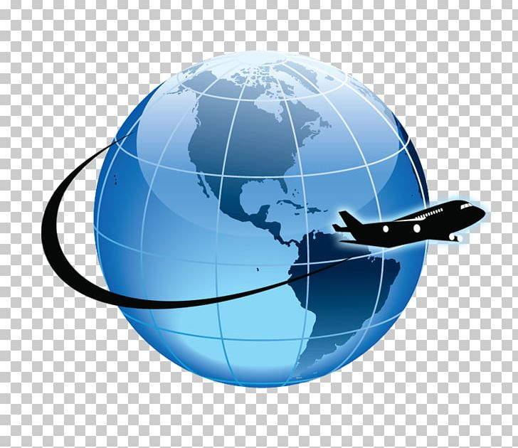 Airplane globle clipart svg library stock Globe Airplane Flight Atkamba Airport Aircraft PNG, Clipart ... svg library stock
