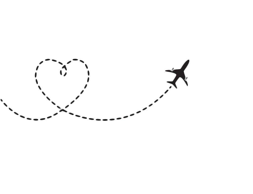 Airplane heart clipart png free stock Airplane Flight Aircraft Clip art - Heart-shaped airplane route 1000 ... png free stock