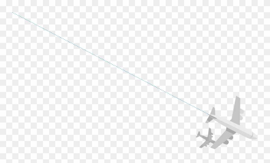 Airplane line clipart clip art black and white stock Plane With Dotted Line - Plane With Line Png Clipart (#3803873 ... clip art black and white stock