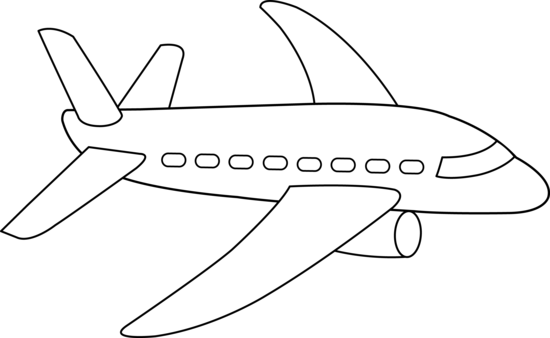 Airplane line clipart vector royalty free library Airplane Line Art - great site for clipart!   Transport   Airplane ... vector royalty free library