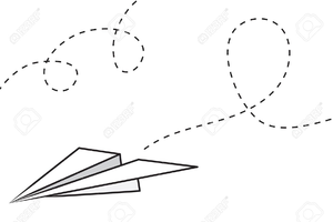 Airplane path clipart clip art black and white download Flight Path Clipart | Free Images at Clker.com - vector clip art ... clip art black and white download