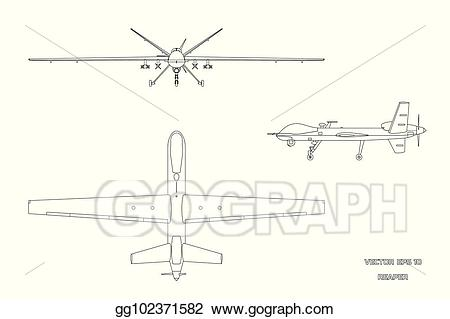 Airplane side view drawing clipart