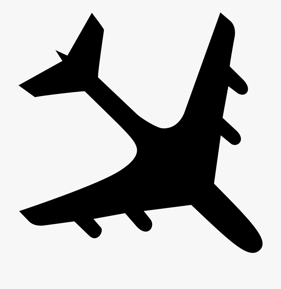 Airplane svg clipart svg library stock Plane Svg Clip Art Black - Flight #1426646 - Free Cliparts on ... svg library stock