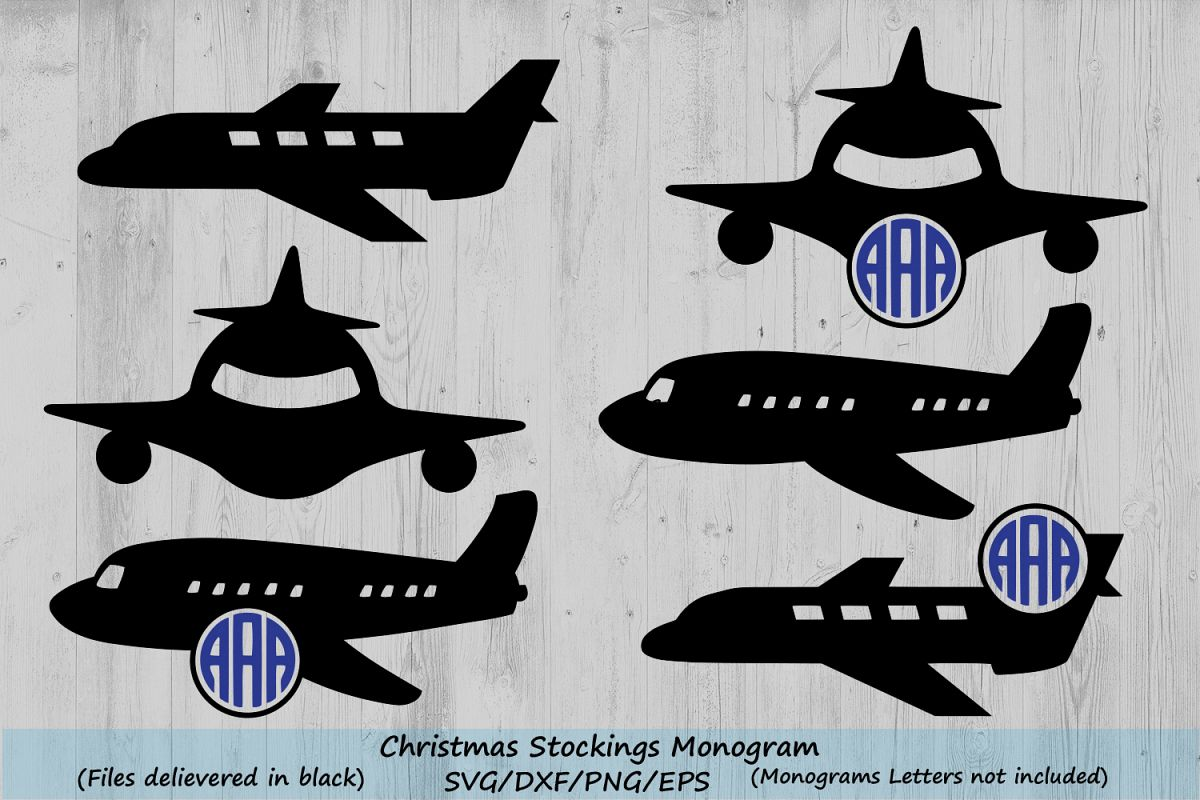 Airplane svg clipart clip freeuse Airplane Svg, Monogram frame cut Files, plane silhouette, plane cut files  for silhouette and Cricut, airplane clipart, svg, dxf, eps, png. clip freeuse