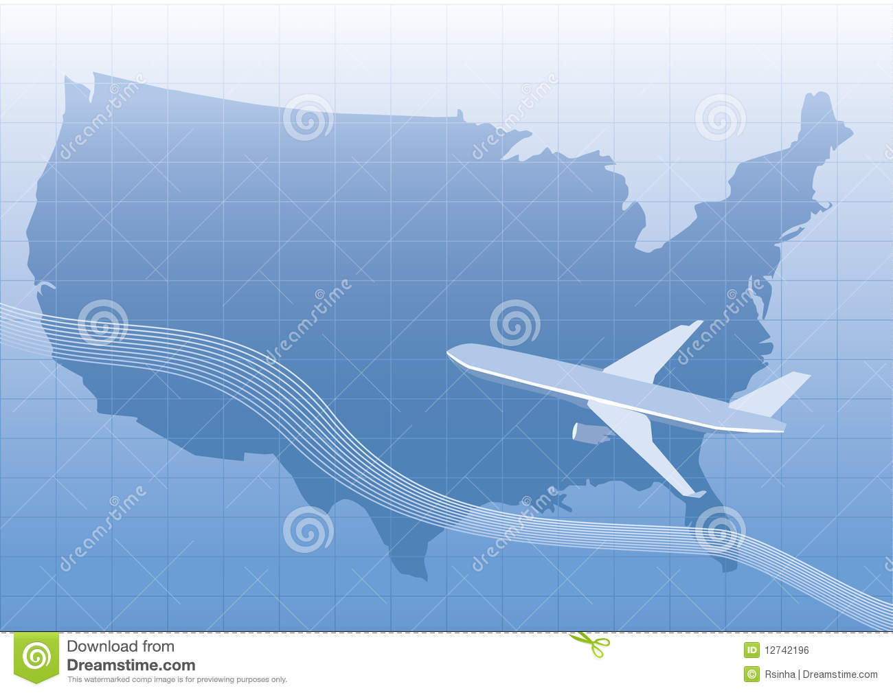 airplane to us clipart map #19